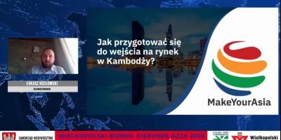 """""""Wielkopolski biznes: kierunek Azja 2020"""" z Łukaszem Kozłowskim"""